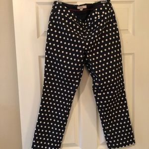 Cropped Polka-Dot Work Pants